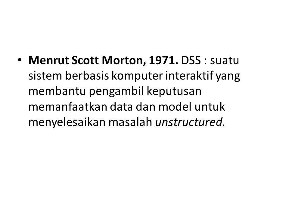 Menurut Keen and Scott Morton, 1978.