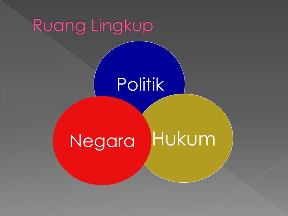 Politik berasal dari kata Polis (Yunani), yang berarti city state, dengan demikian politik bermakna sesuatu yang berhubungan dengan negara.