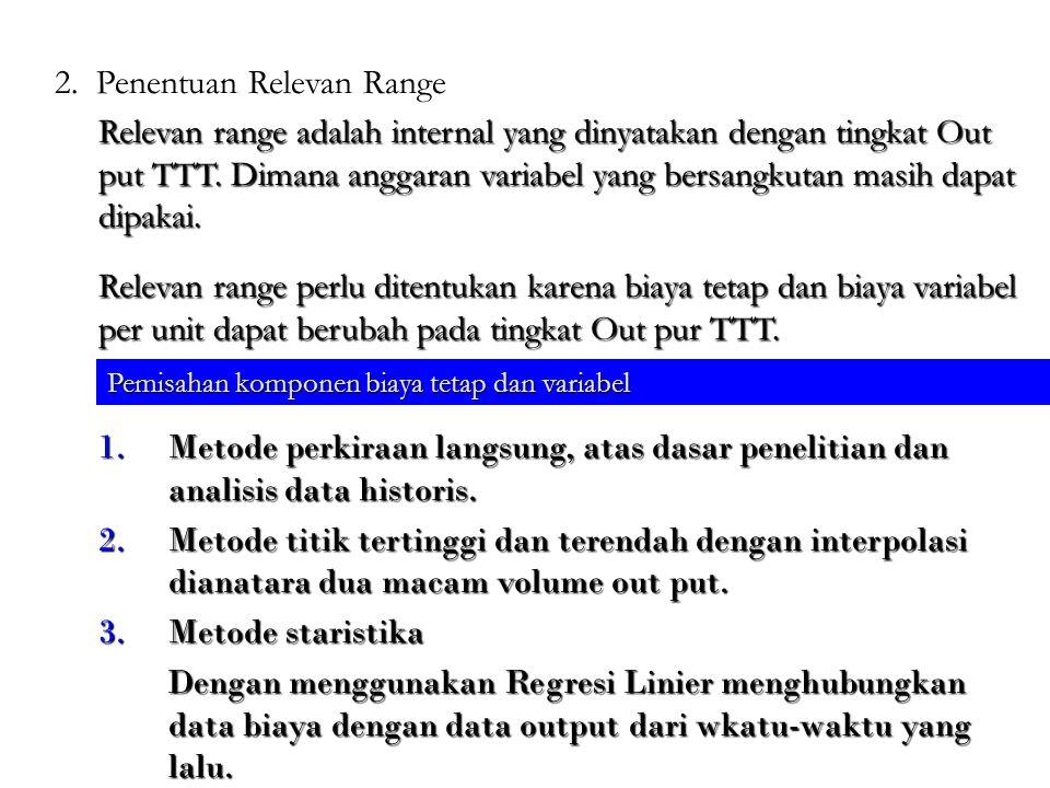 1.Metode perkiraan langsung, atas dasar penelitian dan analisis data historis.