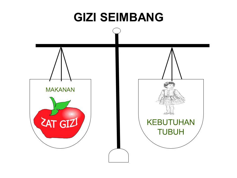 MAKANAN KEBUTUHAN TUBUH GIZI SEIMBANG