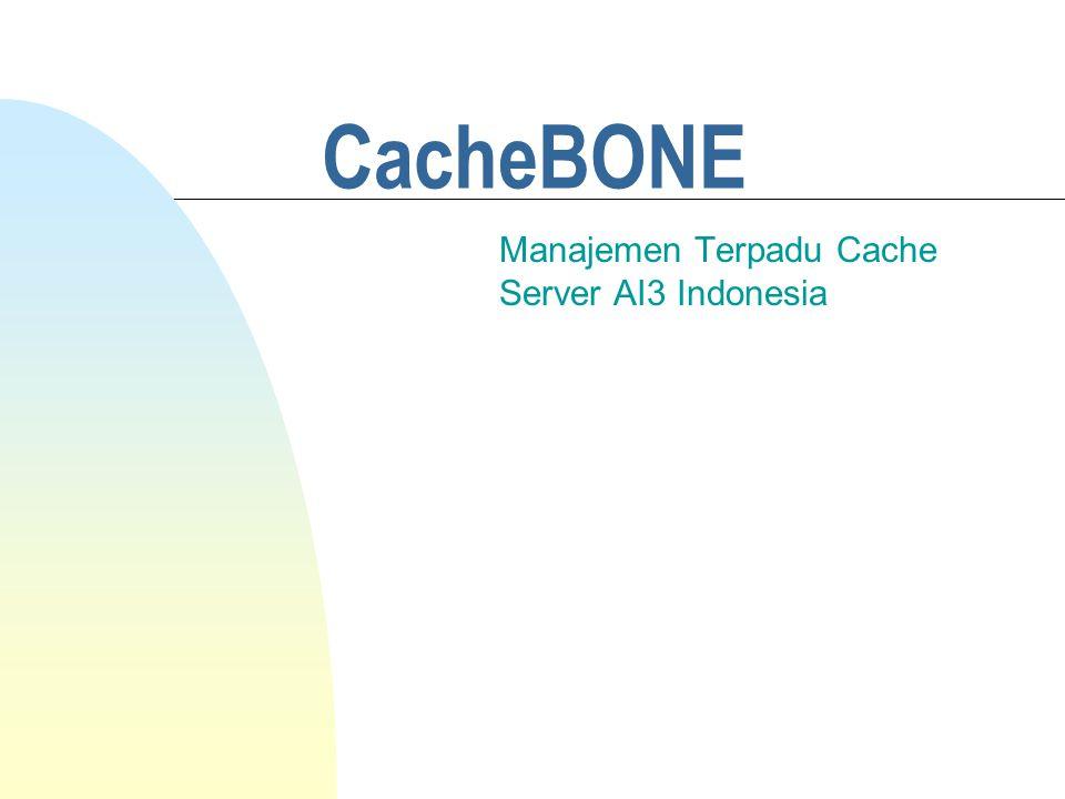 CacheBONE Manajemen Terpadu Cache Server AI3 Indonesia
