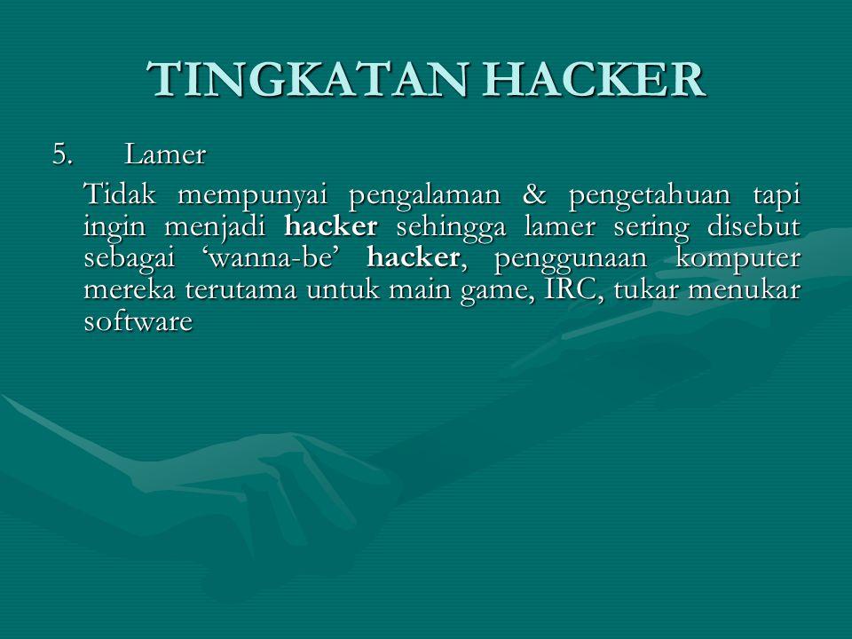 TINGKATAN HACKER 5.