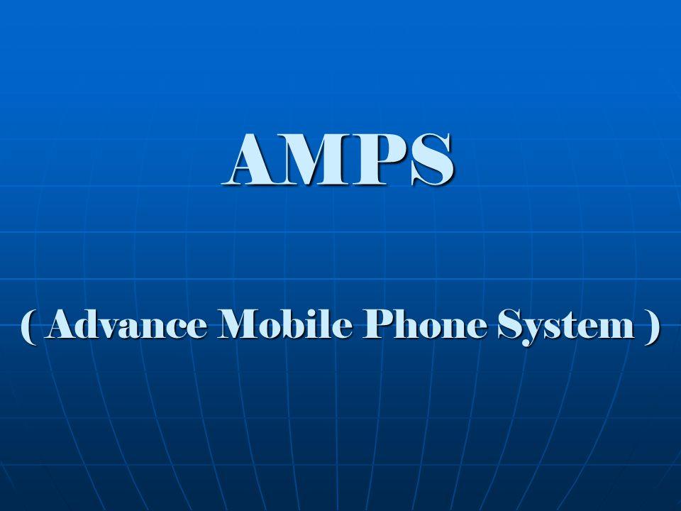 Dasar Telekomunikasi presentation - AMPS - Sejarah AMPS Generasi pertama teknologi selular yang diperkenalkan pertama pada akhir 1970 (1978) di New Jersey dan Chicago Amerika Serikat.