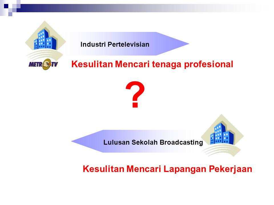 Kesulitan Mencari tenaga profesional Lulusan Sekolah Broadcasting Kesulitan Mencari Lapangan Pekerjaan Industri Pertelevisian ?