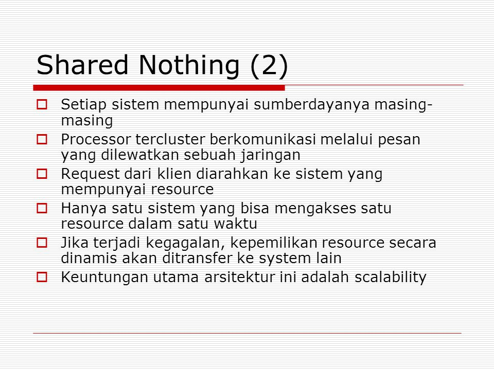 Shared Disk