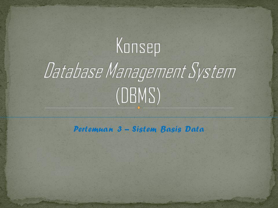 Pertemuan 3 – Sistem Basis Data