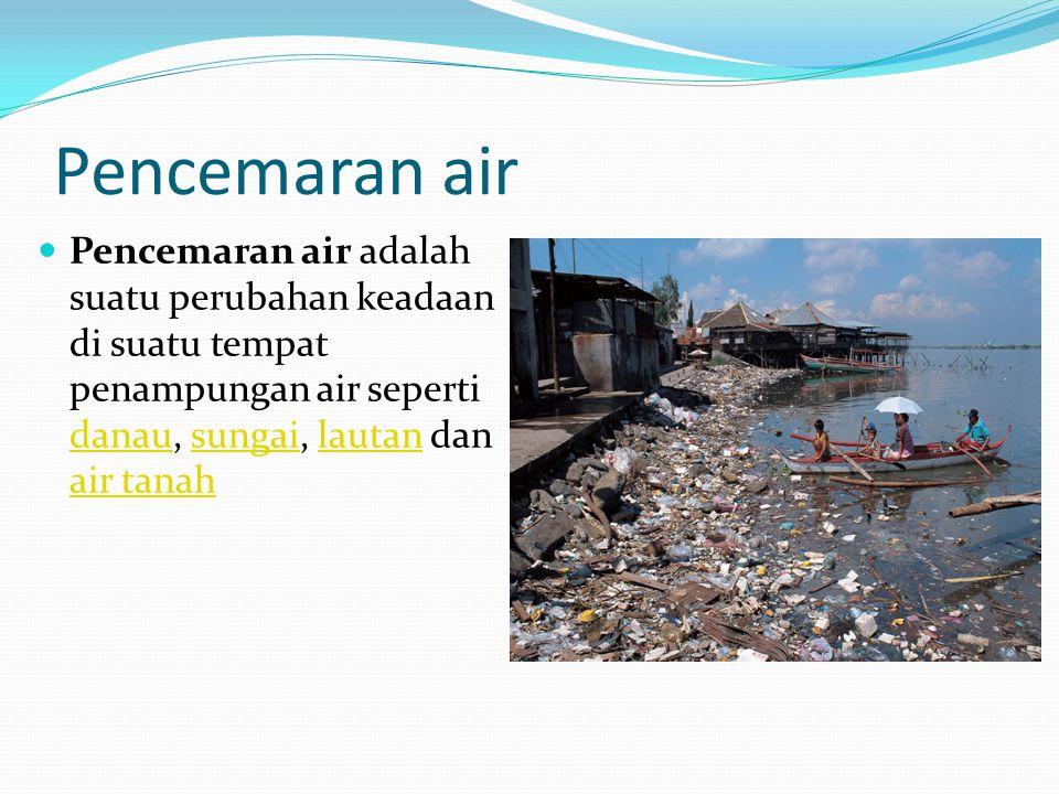 Pencemaran air