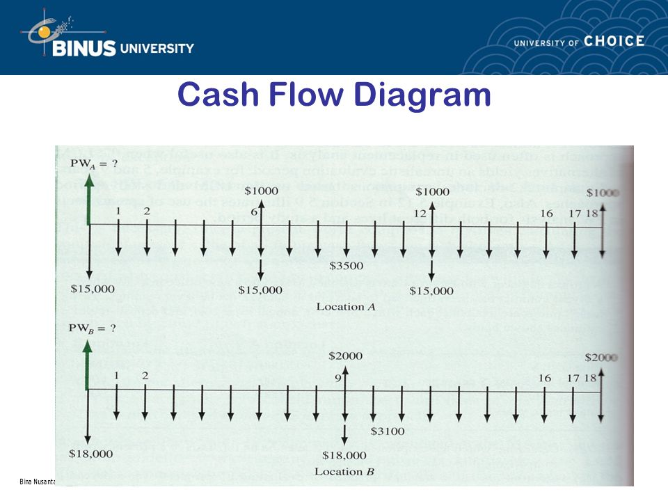 Bina Nusantara Cash Flow Diagram