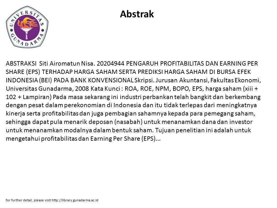 Abstrak ABSTRAKSI Siti Airomatun Nisa.