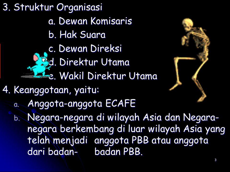 3 3. Struktur Organisasi a. Dewan Komisaris b. Hak Suara c.