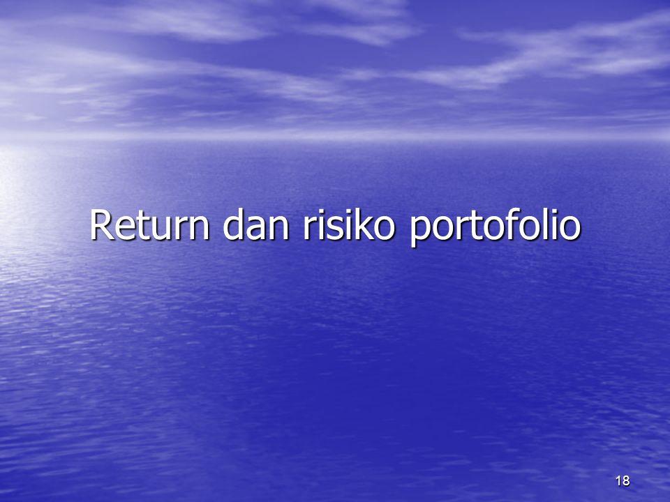 18 Return dan risiko portofolio