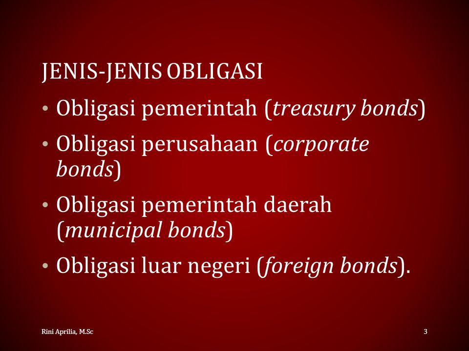 BERBAGAI JENIS OBLIGASI PERUSAHAAN Obligasi hipotek (mortgage bond) – Obligasi yang dijamin oleh aktiva tetap.