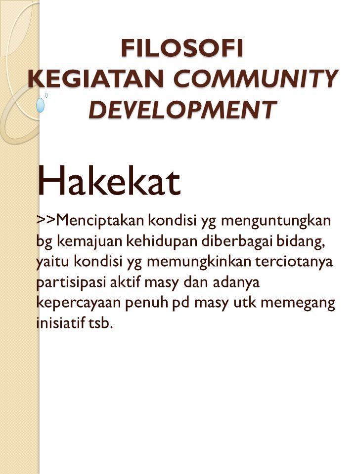 Pendekatan Community Development 3.