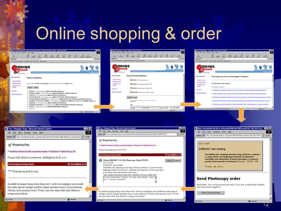 12 Online shopping & order