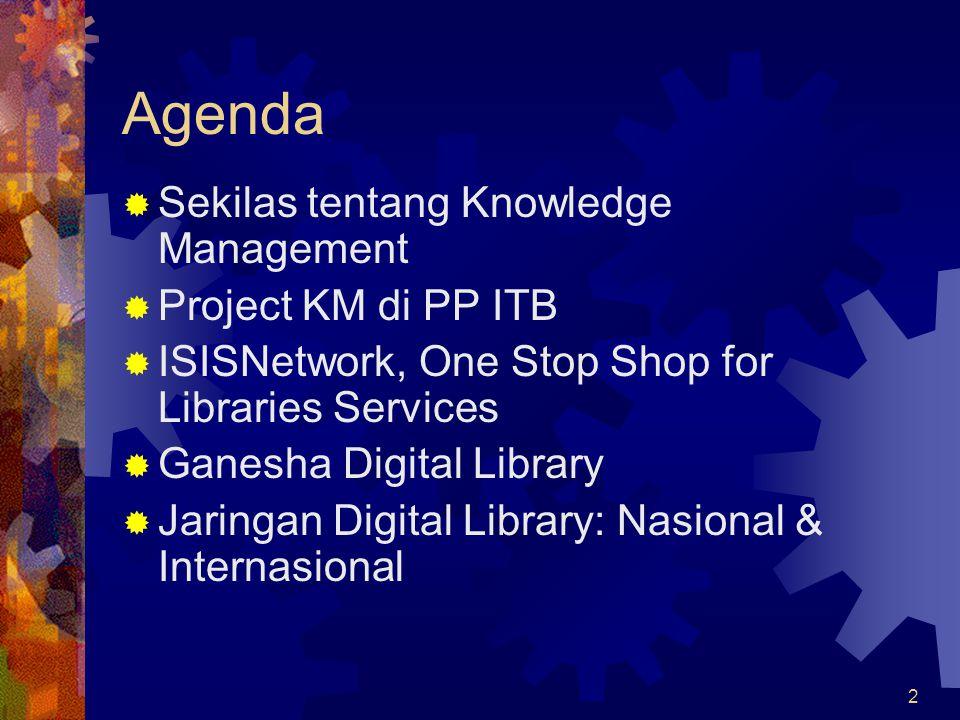 13 Ganesha Digital Library Visi: Menjadi knowledgebase dari IC ITB, dengan mengelola tacit & explicit knowledge civitas ITB, menggunakan TI yang tepat dan terjangkau, dan membuka akses bagi masyarakat secara luas.