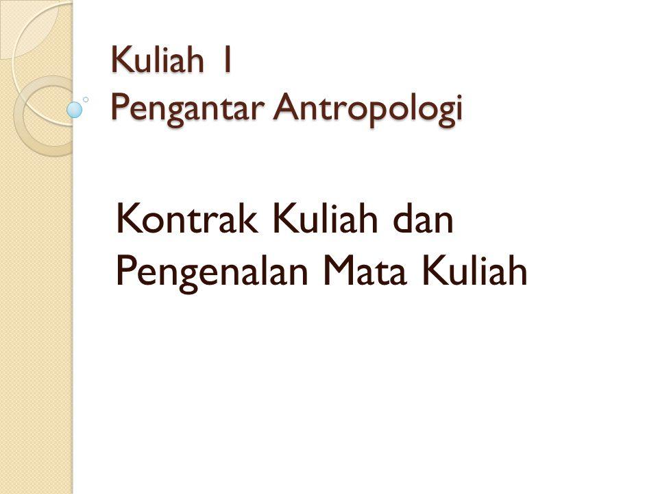 Pengertian Antropologi Antropologi berasal dari dua kata Yunanai: anthropos -- manusia dan logos – kata atau kajian.