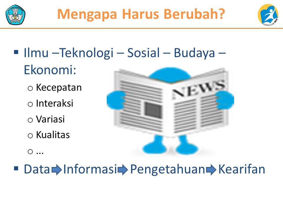 Teknologi Pengetahuan  Teknologi Informasi  Teknologi Komunikasi  Teknologi Komputasi  Teknologi Otomasi