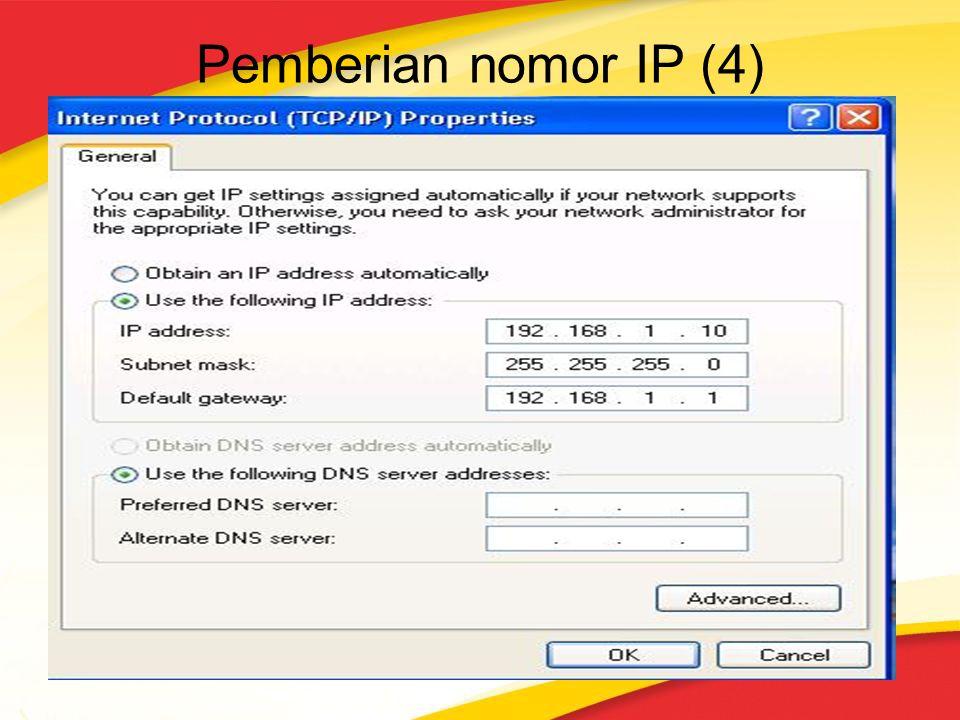 Pemberian nomor IP (4)