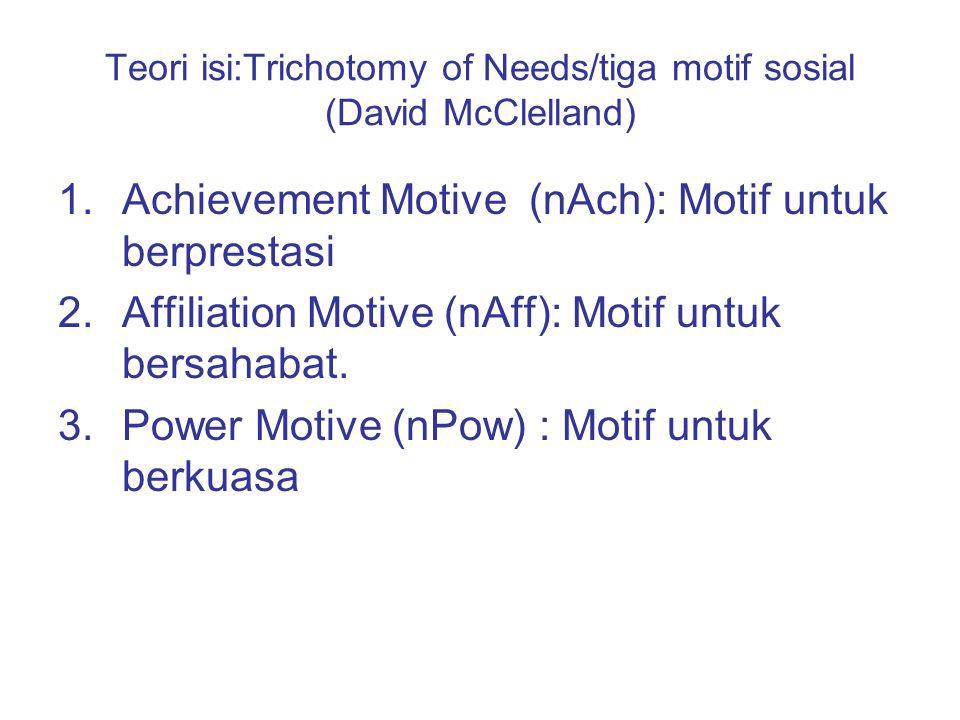Motivasi internal : dorongan dari dalam diri Motivasi eksternal: dorongan yang berasal dari luar diri (individu).