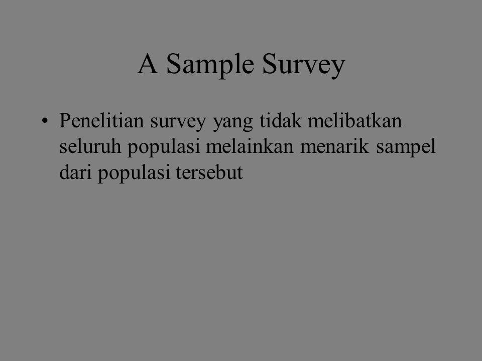 Analisis Data pada Penelitian Survey Crosstabulation (tabel frekuensi)