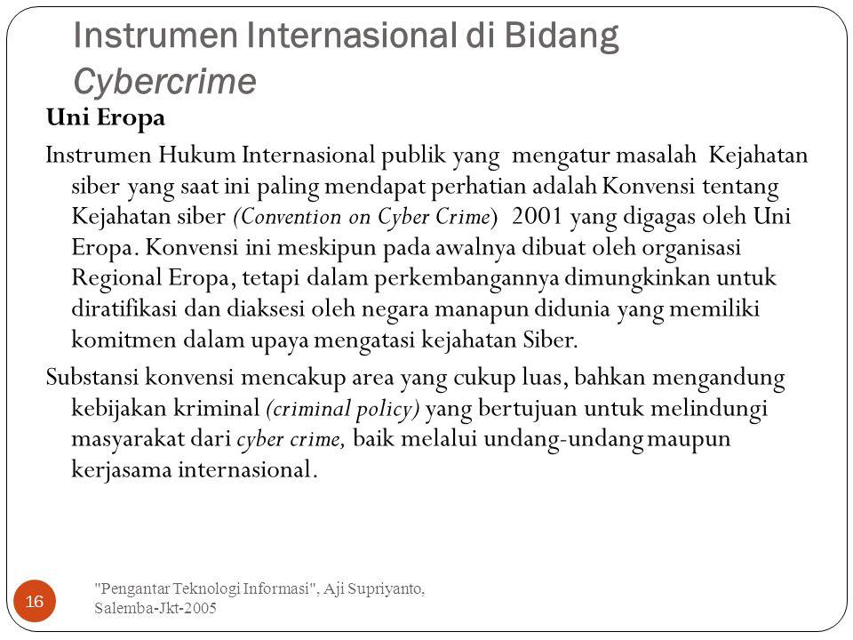 Instrumen Internasional di Bidang Cybercrime