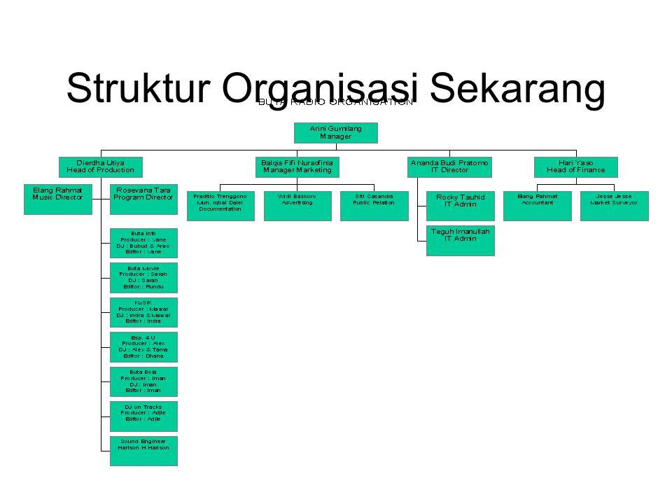 Struktur Organisasi Sekarang