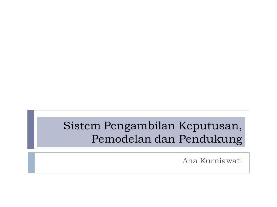 Sistem Pengambilan Keputusan, Pemodelan dan Pendukung Ana Kurniawati