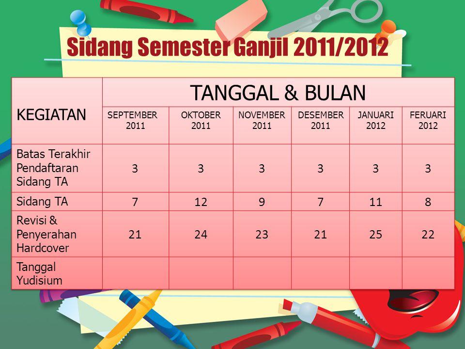 Sidang Semester Ganjil 2011/2012