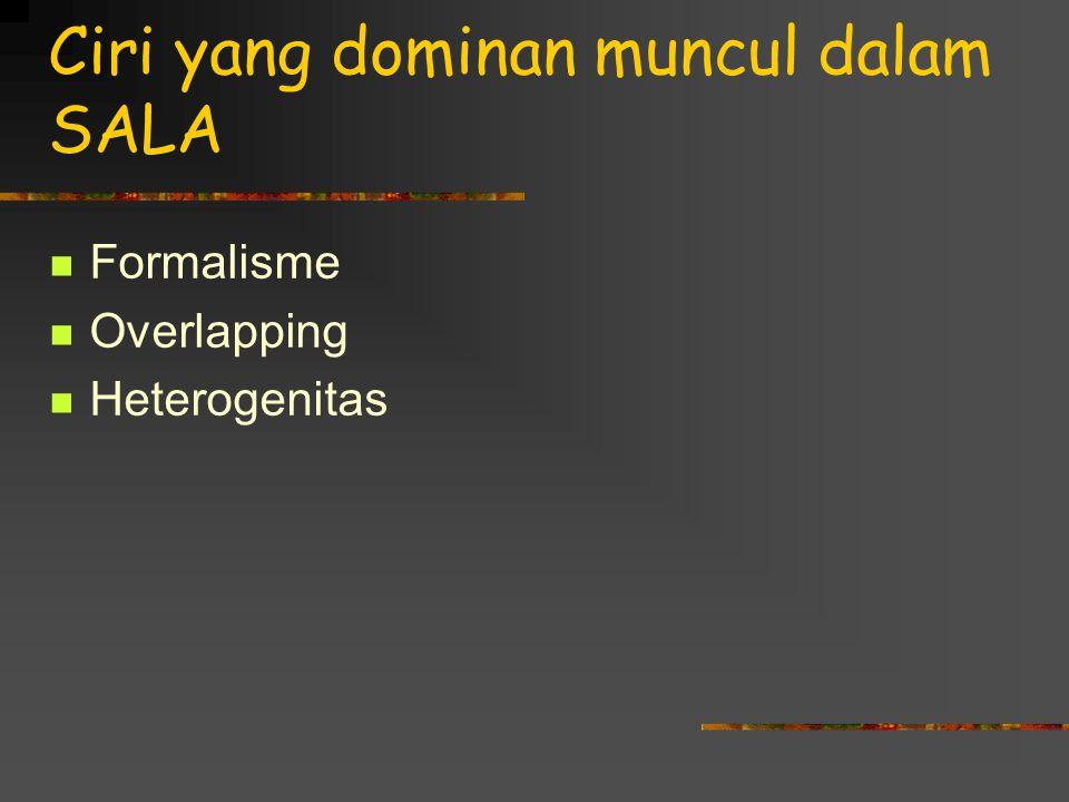 Ciri yang dominan muncul dalam SALA Formalisme Overlapping Heterogenitas