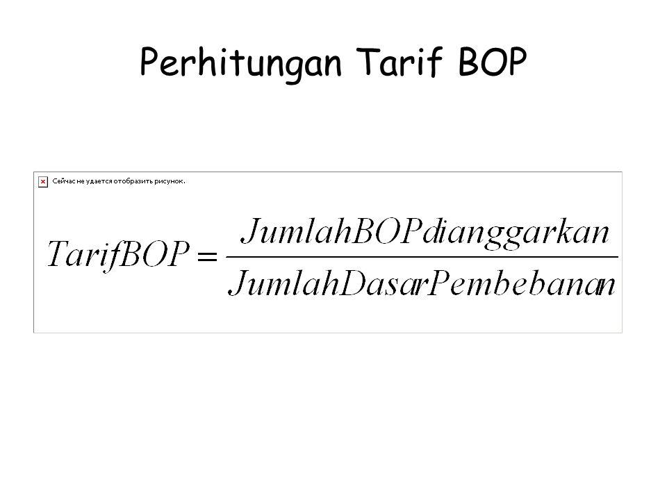 Perhitungan Tarif BOP