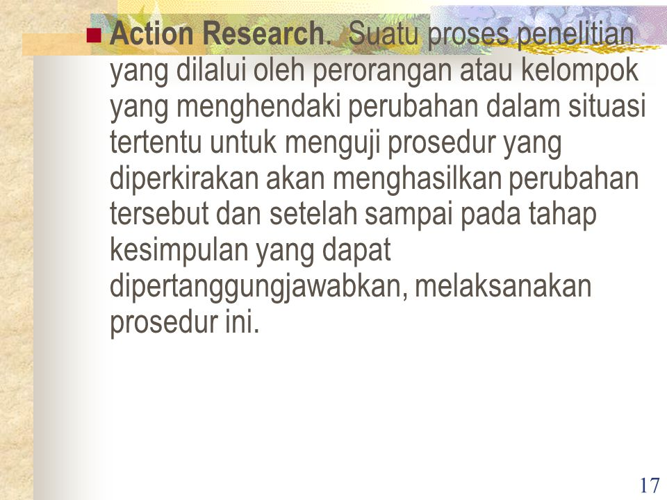 17 Action Research.