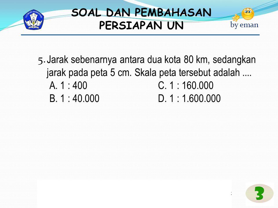 SOAL DAN PEMBAHASAN PERSIAPAN UN by eman Pembahasan Bunga selama 1 tahun 6% = Rp800.000,00 = Rp48.000,00 Bunga selama 9 bulan = Rp48.000,00 = Rp36.000,00 Jumlah tabungan Andi setelah 9 bulan adalah Rp800.000,00 + Rp36.000,00 = Rp836.000,00 Jawaban : A