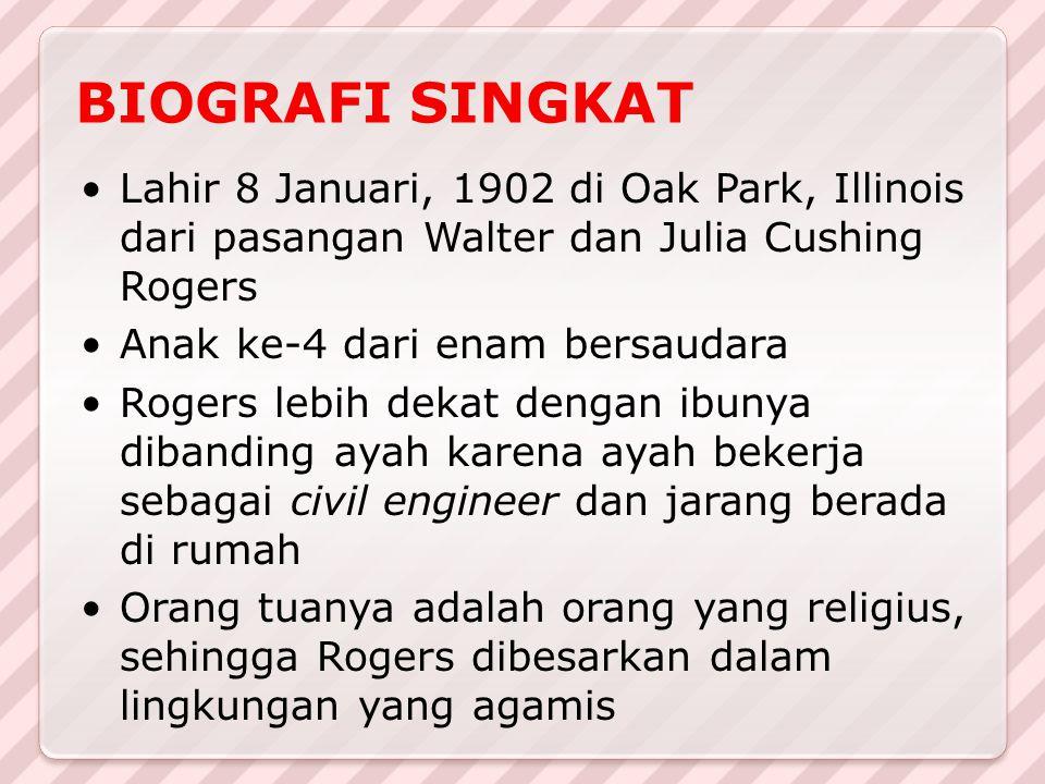 Lahir 8 Januari, 1902 di Oak Park, Illinois dari pasangan Walter dan Julia Cushing Rogers Anak ke-4 dari enam bersaudara Rogers lebih dekat dengan ibu