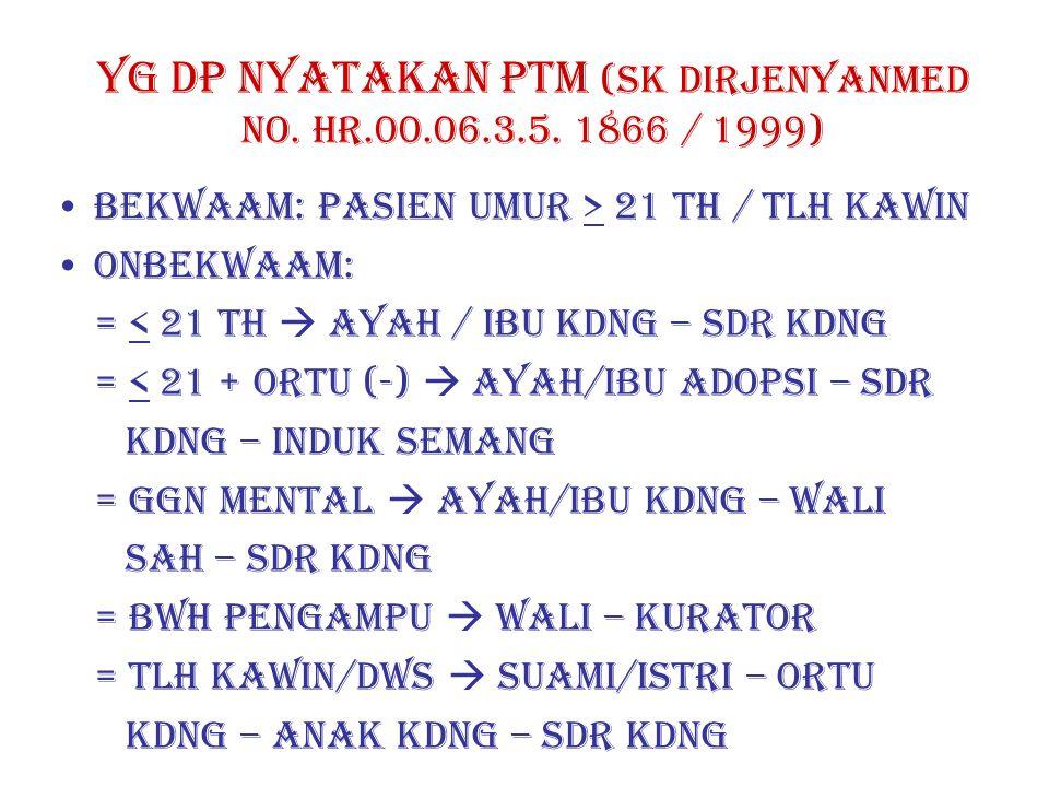 YG DP NYATAKAN PTM (SK DIRJENYANMED NO.HR.00.06.3.5.