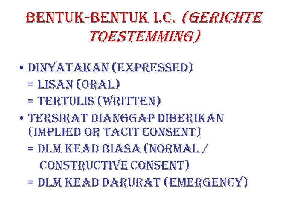 BENTUK-BENTUK I.C.