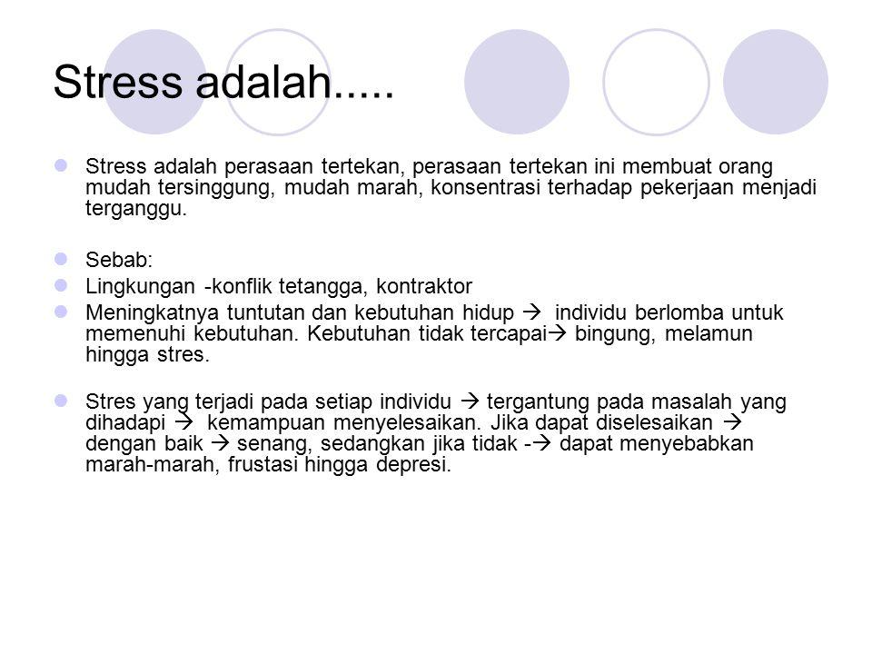Stress adalah.....