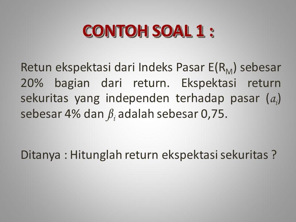 5.ER efek A ( 5. ER efek A (E(R A )) 6.