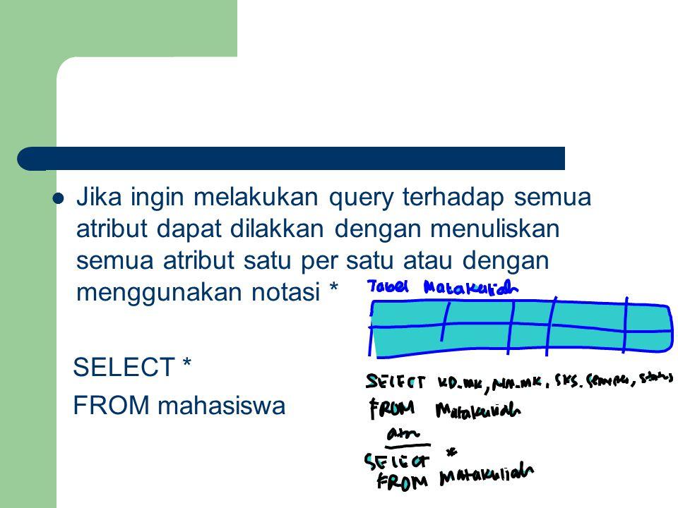 Database Perusahaan yang Menjual Buku Pelanggan (id-pel, nama, alamat, jenkel) Kasir (id-kas, nama, alamat, jenkel) Buku (kd-bk, penulis, penerbit, tahun terbit) Tramsaksi (id-pel, id-kas, kd-bk, tgl transaksi) Soal, tuliskanlah perintah SQL terhadap query berikut ini: 1.