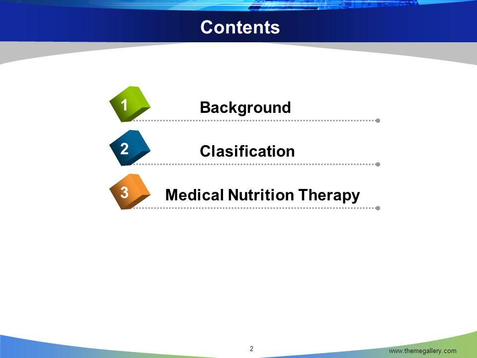 MNT For Crohn's Disease www.themegallery.com 43  Protein tinggi : 1-1,5 gram/kg BB  Lemak relatif tinggi, utamakan MCT dan omega-3  Karbohidrat : sisa dari kebutuhan energi  Kebutuhan mikronutrien ditingkatkan terutama : vitamin B1, B12, vitamin A,D,E,K,Zn, Fe, Mg, Ca  Mengurangi laktosa, jika terjadi laktose intolerance  Probiotik untuk meingkatkan bakteri khusus dalam usus  Rendah serat Nutrition and Diagnosis Related Care, Sylvia Escott-Stump, 2008