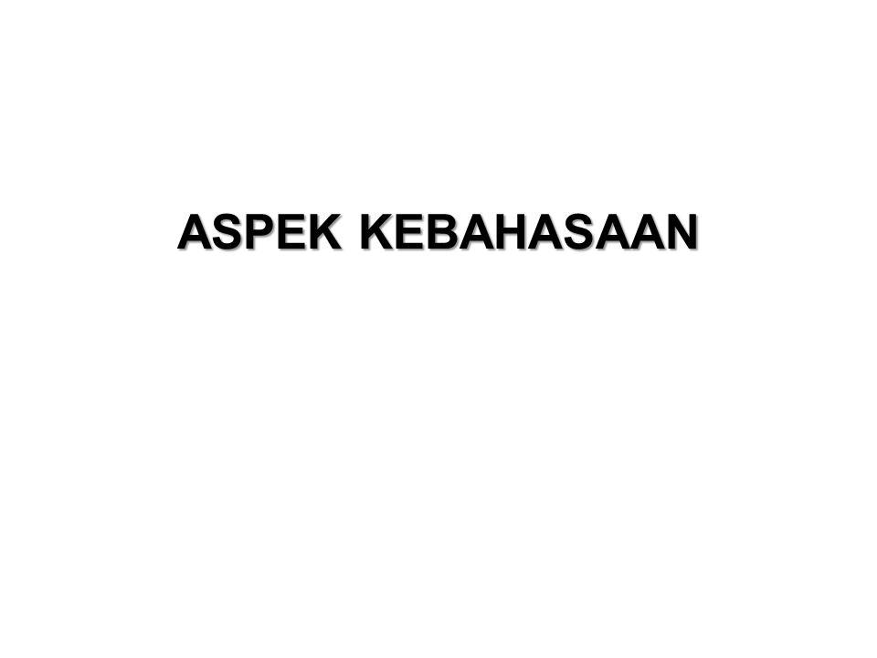 ASPEK KEBAHASAAN