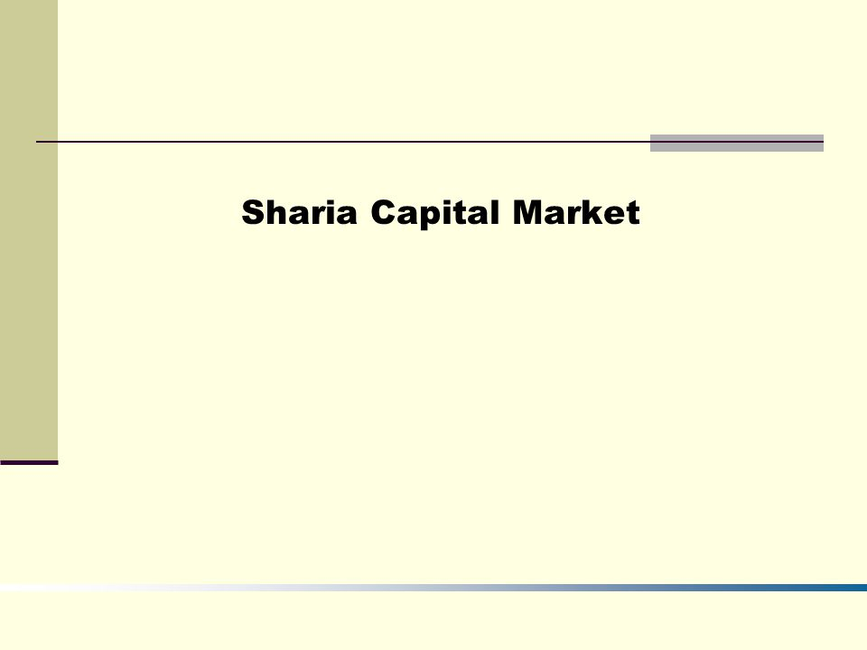 Sharia Capital Market