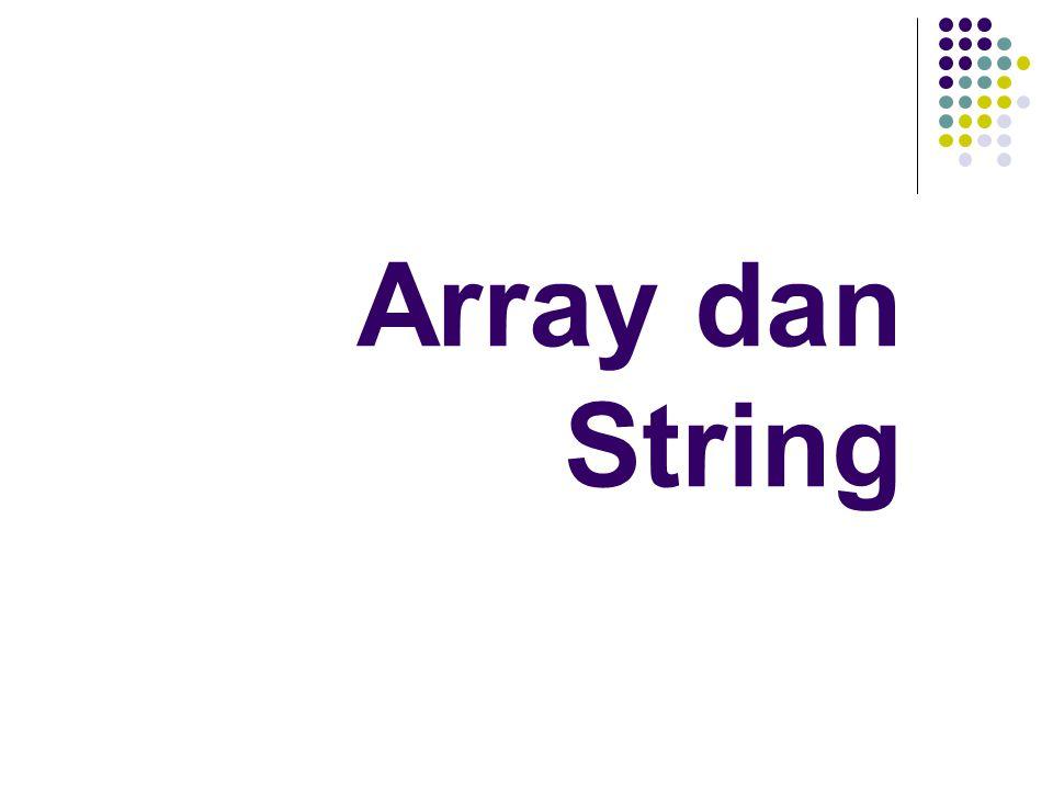 Array dan String