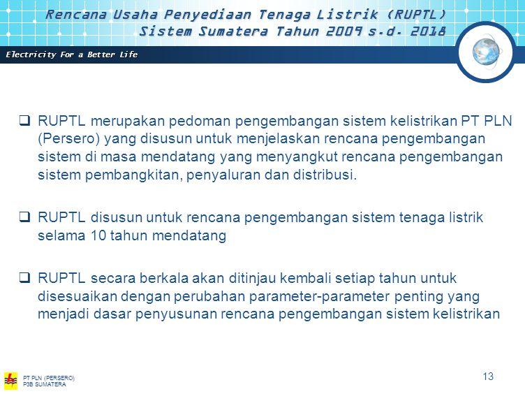 Rencana Usaha Penyediaan Tenaga Listrik (RUPTL) Sistem Sumatera Tahun 2009 s.d.