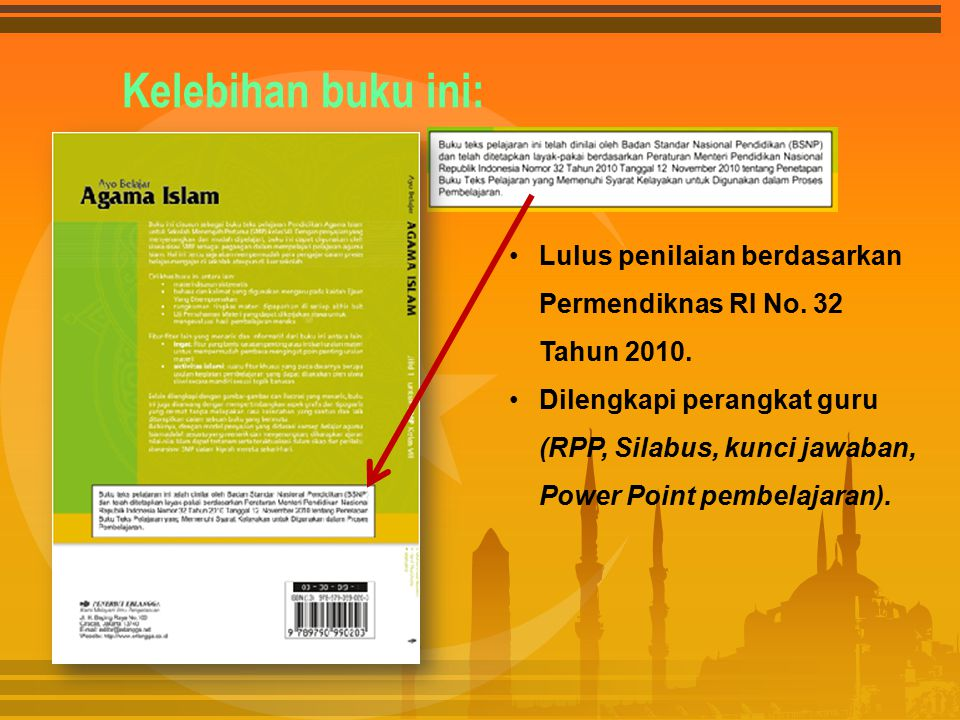Kelebihan buku ini: Lulus penilaian berdasarkan Permendiknas RI No. 32 Tahun 2010. Dilengkapi perangkat guru (RPP, Silabus, kunci jawaban, Power Point