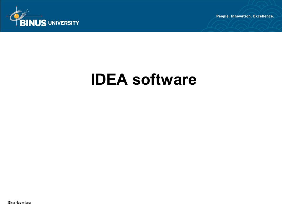 Bina Nusantara IDEA software