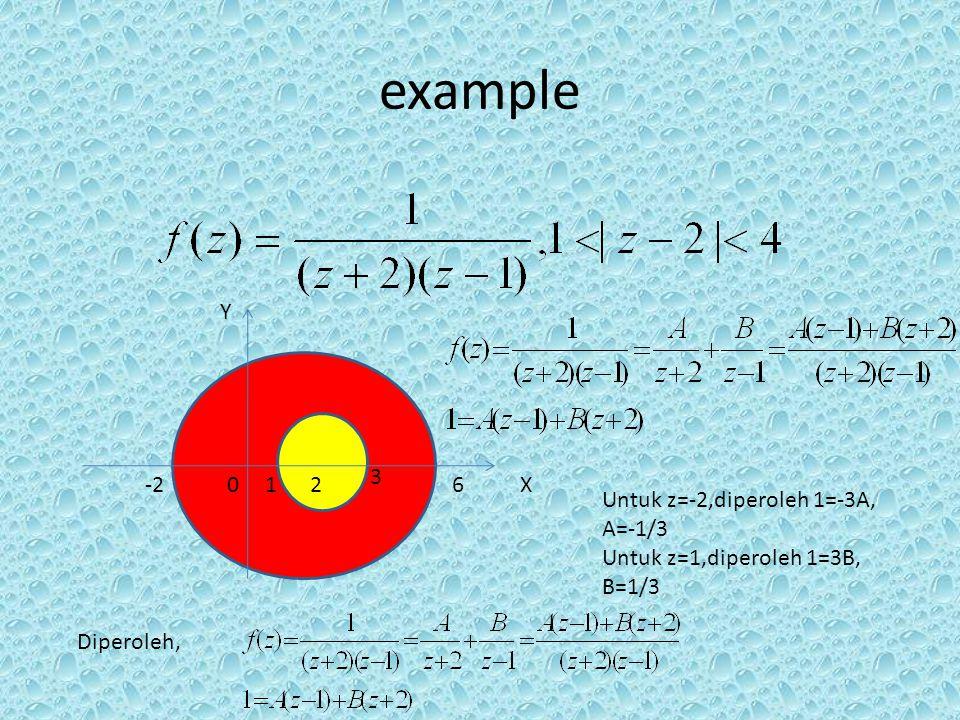 example 3-3 3 Jadi deret laurent dari fungsi analitik