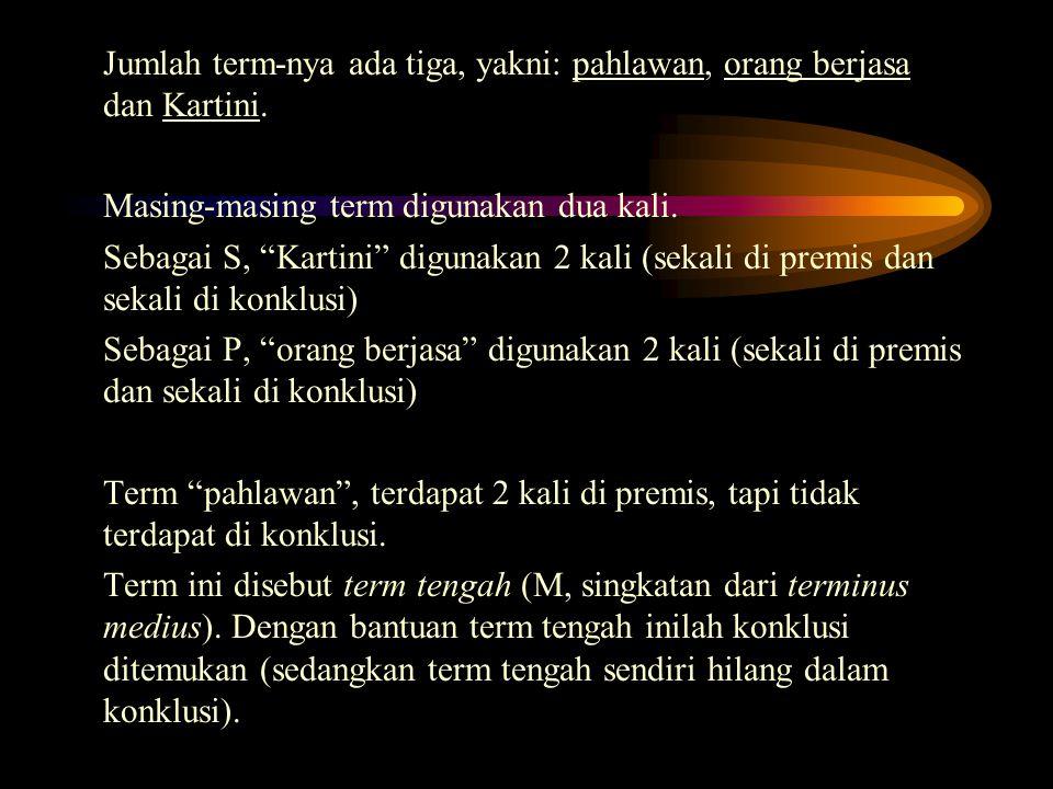 """Jumlah term-nya ada tiga, yakni: pahlawan, orang berjasa dan Kartini. Masing-masing term digunakan dua kali. Sebagai S, """"Kartini"""" digunakan 2 kali (se"""