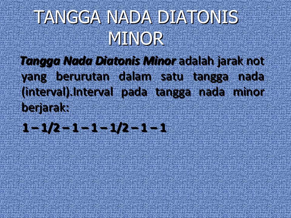 TANGGA NADA DIATONIS MAYOR Tangga Nada Diatonis Mayor adalah jarak not yang berurutan dalam satu tangga nada (interval).Interval pada tangga nada mayo