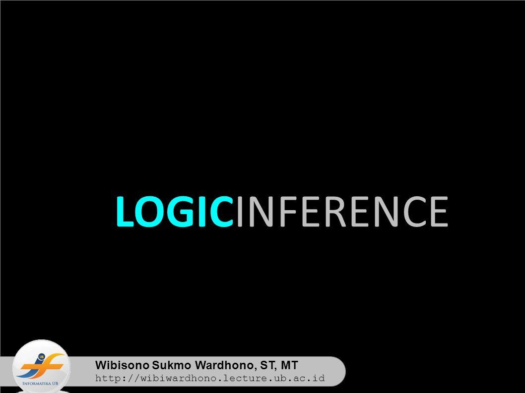 Wibisono Sukmo Wardhono, ST, MT http://wibiwardhono.lecture.ub.ac.id LOGICINFERENCE