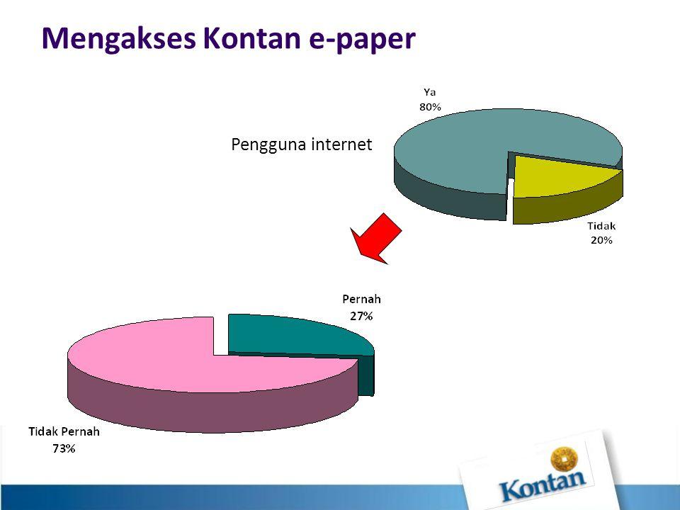 Mengakses Kontan e-paper Pengguna internet